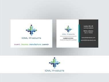 RE - designer logo and business card