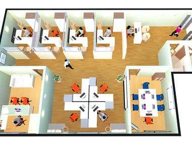 Layout Plan of an Office