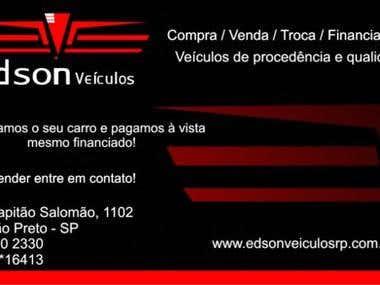 CARTÃO DE VISITA PARA GARAGEM DE VENDAS DE CARROS