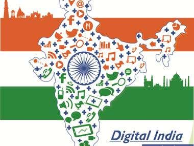 Ad Campaign Digital India Poster