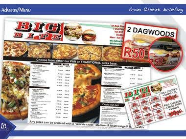 Adverts/Menu