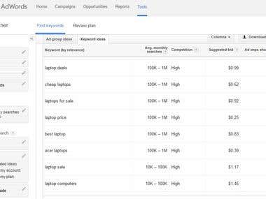 Keyword Reseach by Google AdWords