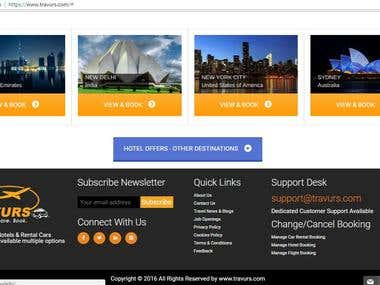 Hotel, Flight and Car Booking Website