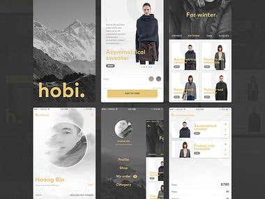Mobile UI application design