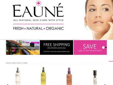 OpenCart Project | Eaune Skincare