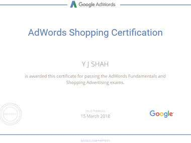 AdWords Fundamentals and Shopping Advertising Certification