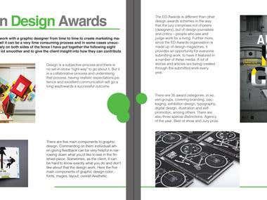 Magazine design (Pages design)