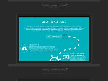Alfred Website Design