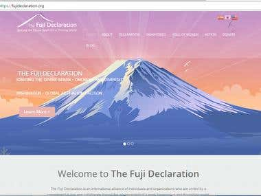 FujiDeclaration Website