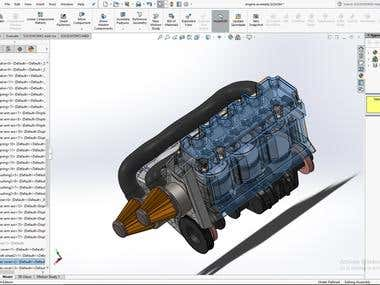 IC engine design using Solidworks