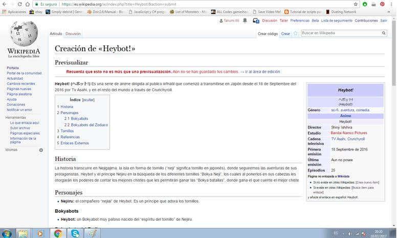 Wikipedia Heybot Anime Serie Page Creation Freelancer