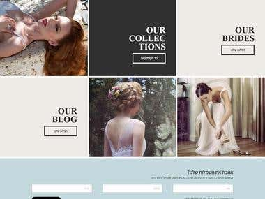 Wordpress theme for bridal gowns website