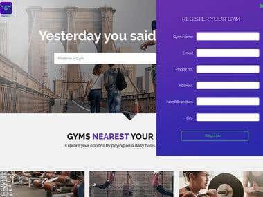 Gymley website developed in ASP.NET