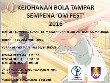 Volleyball Invitation Flyers for student UITM