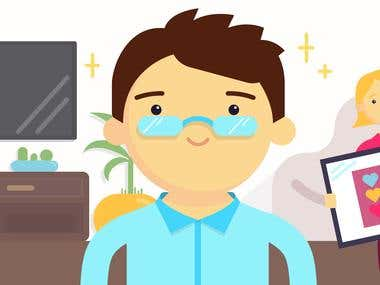 Illustrations for video explainers for startups and business