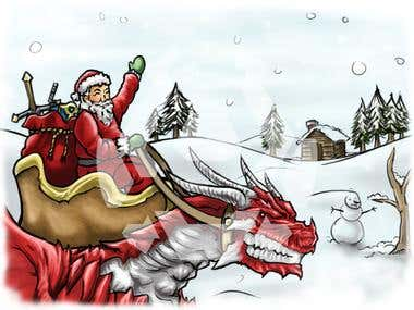 MMORPG Christmas Card Art