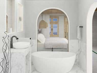 hotel room bath