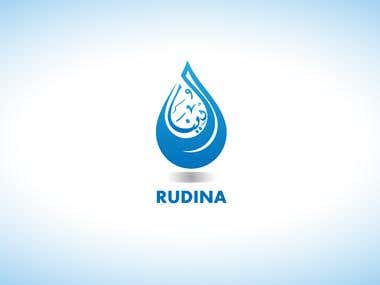 logo for rudina water company