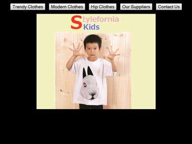 Website for kids clothes.