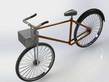 Bicycle model generation in SolidWorks