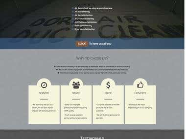 Landing Page for air duct cleaning