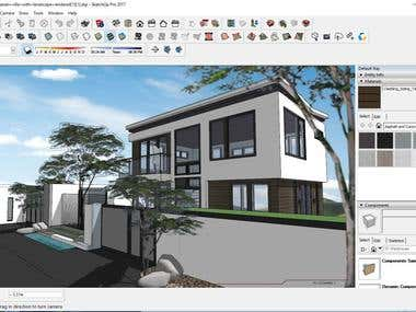 House modeling using Sketchup