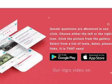 Queskr Social App Mobile testing