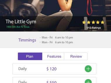 Gym User iOS Mobile App
