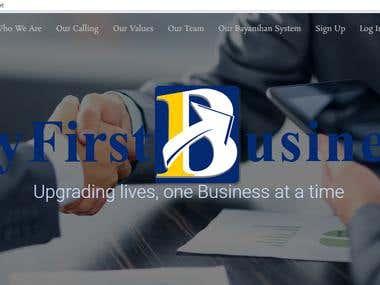 My First Business WordPress Website
