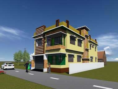 Residential House Design by Autodesk Revit Architecture