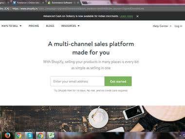 A multi-channel sales platform