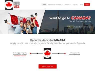 Immigration Website design and development