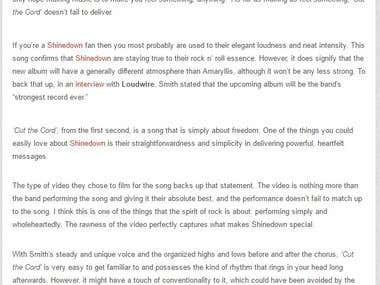 """""""Shinedown - Cut the Cord"""" Rock Era Music Review"""