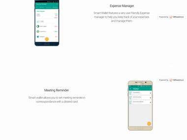 Android Application website (Bootstrap)