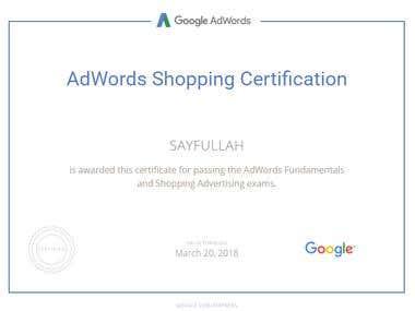 Google Adword Certificates
