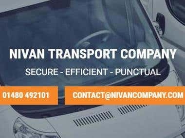 Nivan Transport Website