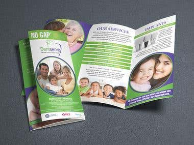 Tri-Fold Brochure for Dentserve.