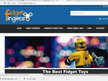 AF Logo Design Figet-Fingers