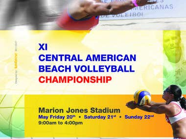 Volleyball Competition flyer