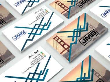 Modern Business Card Design for a Civil Company