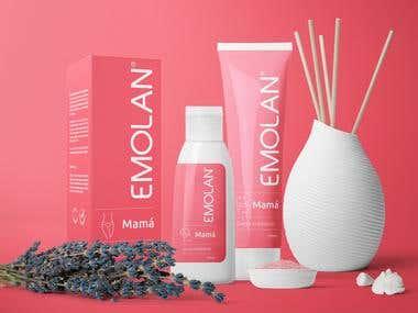 Emolan package design