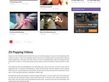 Pimple Popping Videos - Video website
