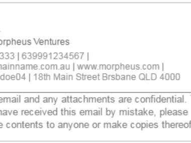 Morpheus Signature