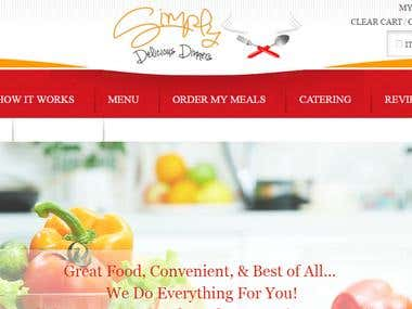 Simplydeliciousdinners Food order website