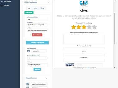CUSTOMER REVIEW AND RATING WIDGET