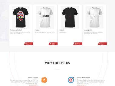 Teestall Custom Tshirt Printing Website