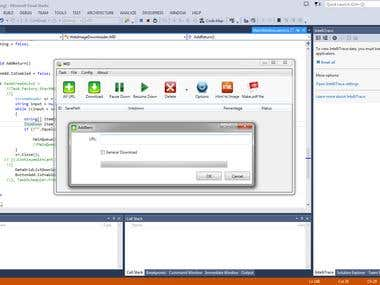 Make application using C# and WPF to download photo