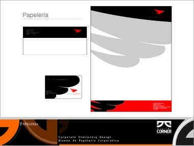 Corporate Stationery Design Diseño de Papeleria Corporativa