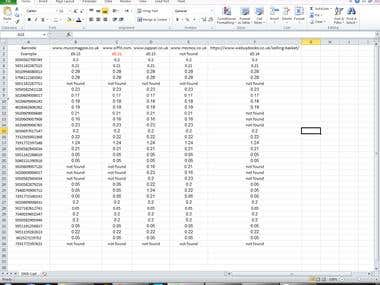 a Spreadsheet with Data