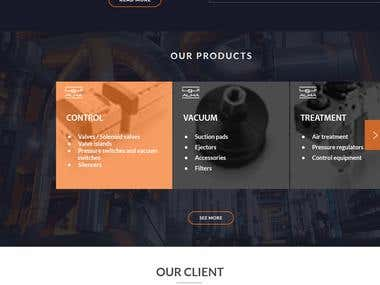Website Mockup Al hawaiya for industrial solutions